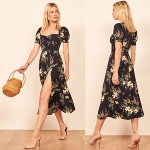 "Reformation ""Lacey Dress"" In Isabella Print"
